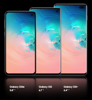 Samsung Galaxy S10 range size comparison