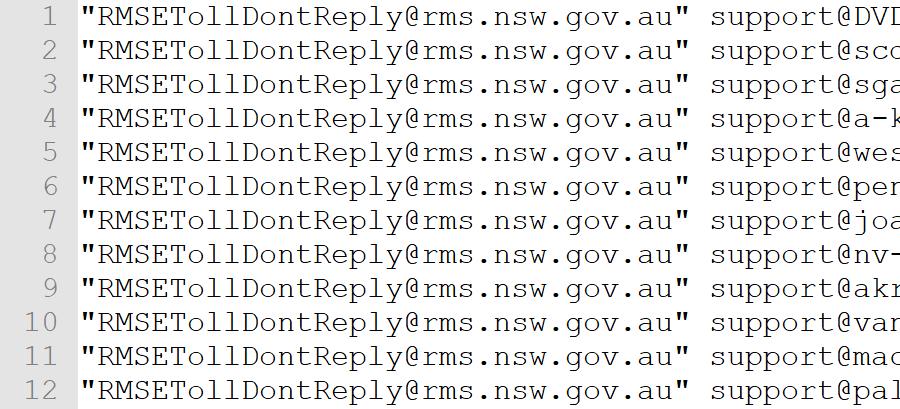 RMS E-toll spam